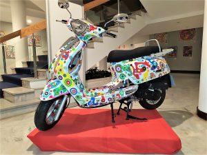 arte en una moto